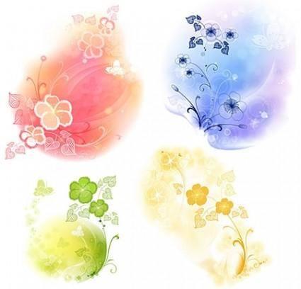 free vector Vector Flower Elements