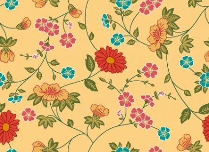 free vector Beautiful Vector Flower Patern