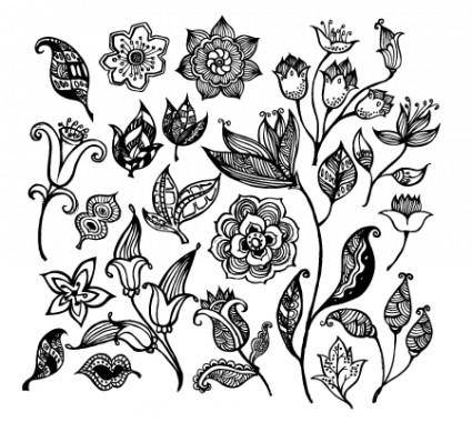free vector Black & White Flower Vectors