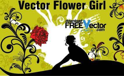 Vector Flower Girl