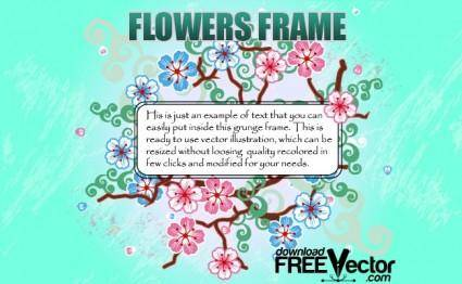 free vector Flowers Frame