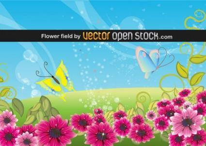 free vector Flower Field