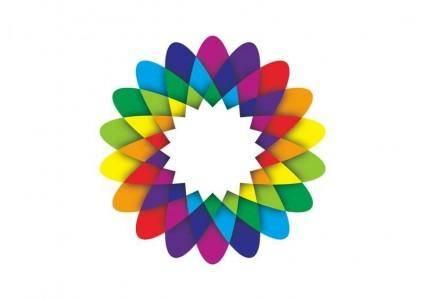 free vector Geometric Flower