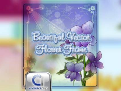free vector Beautiful Flower Frame in Vector