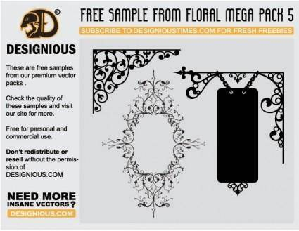 free vector Flowers and wrought iron
