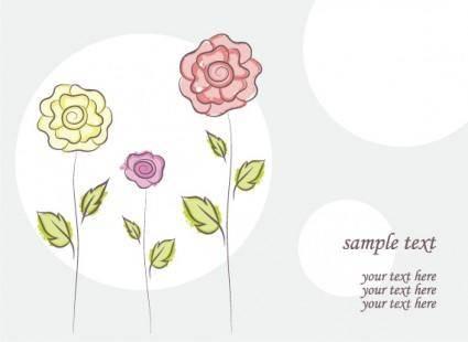 free vector Free vector flower doodles