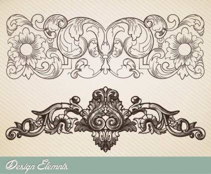 free vector The european lace vector