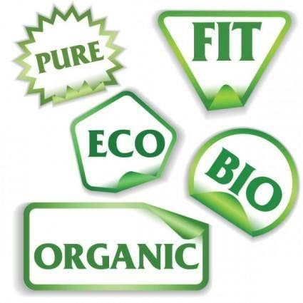 free vector Beautiful green label 01 vector