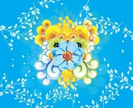 free vector Colorful Flower Vector Art Illustra