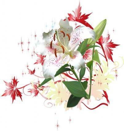 free vector Flower market