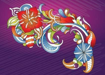 free vector Beautiful Flowers Vector Art