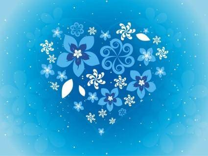 free vector Free Flower Heart Vector Art
