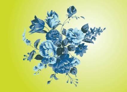 free vector Antique Flowers Vector Art