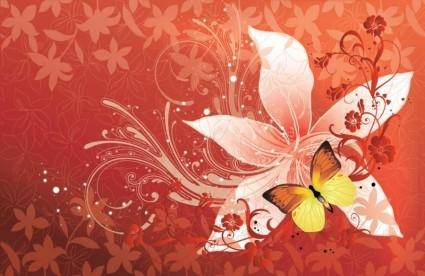 free vector Flower Butterfly Vector