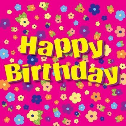 free vector Happy Birthday Flowers