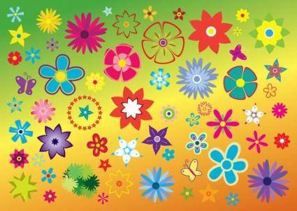 free vector Free Flowers Vector Clip Art