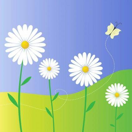 free vector Daisy Flowers