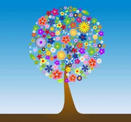 free vector Flower Tree Vector