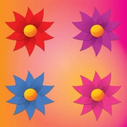 free vector Simple Flowers