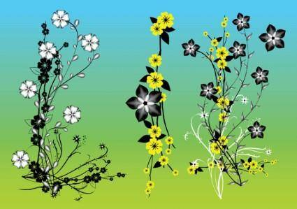 free vector Chinese Flowers Vector Art