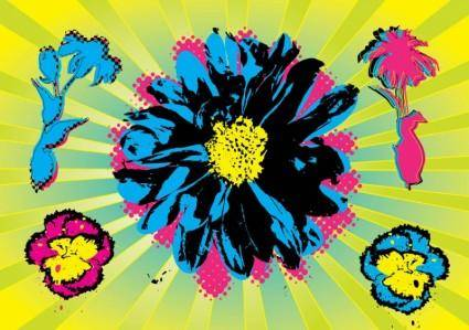 free vector Warhol Flowers