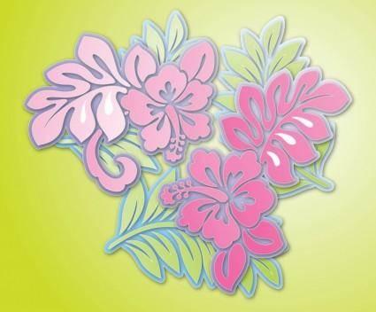 free vector Hibiscus Flowers Vector