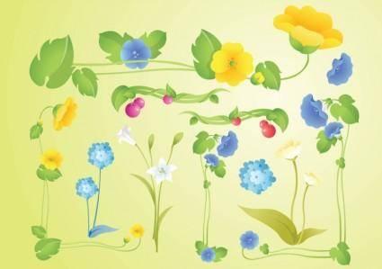 free vector Garden Flowers