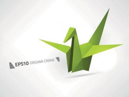 free vector Paper cranes vector