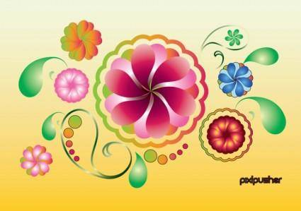 free vector Spring Summer Flowers