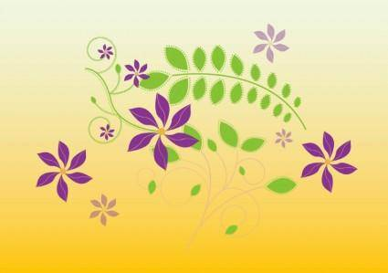 free vector Cute Flowers Illustration