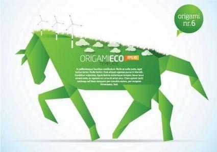 free vector Paper horse clip art