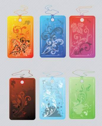 free vector Flower Tags