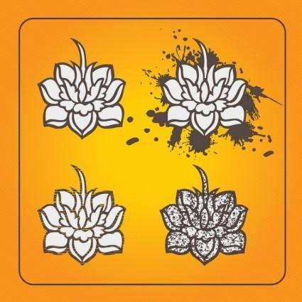 free vector Lotus Flowers