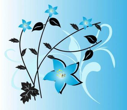 free vector Blue Flowers