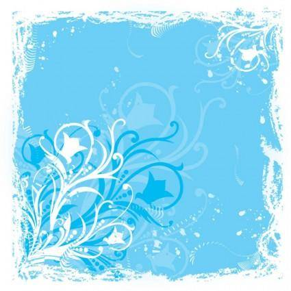 free vector Blue Flower Graphics