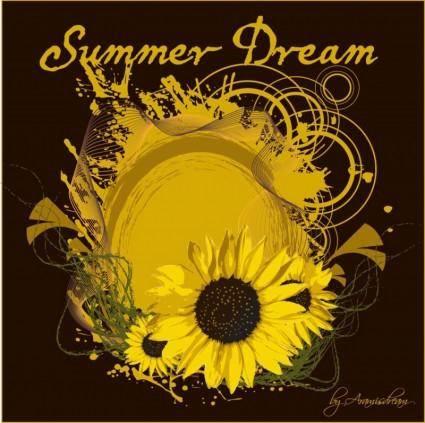 free vector Summer Sunflower