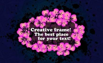 Vector Flowers Frame