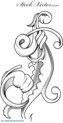 Engraved flower