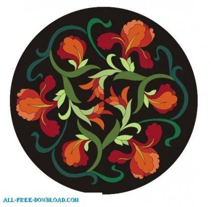 free vector Chinese flower design