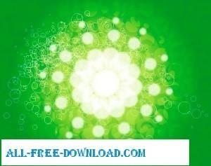 free vector Green flower