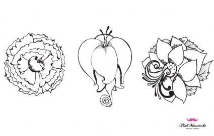 free vector New beautiful vector flowers, part 1