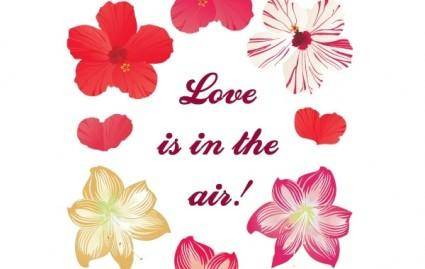 Love is in the air! New free flower vectors
