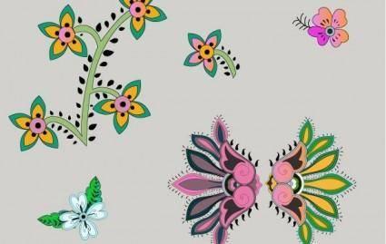 free vector Vector flowers
