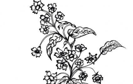 free vector Sketchy Flowers