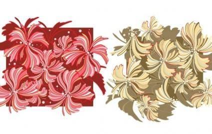 free vector Whispy Flower Vector Wallpaper- Free