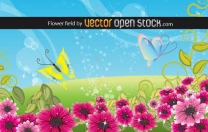 free vector Flower field