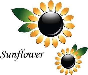 free vector 3d sun flower vector, flower vector ai, 3d vector ai illustrator, adobe illustrator photoshop 3d vector design, sun flower ai illustrator