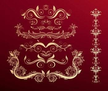 Flower Scroll Vector EPS