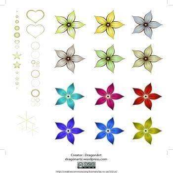 free vector Red Silk Flower Design 01