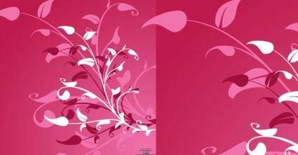 free vector Vector Flower Decoration Background